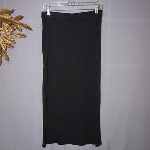 J. Crew Dark Grey Knit Maxi Skirt - Petite X-Sm